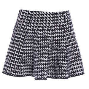 Dresses & Skirts - Cozy Stretchy Soft Houndtooth Winter Mini Skirt